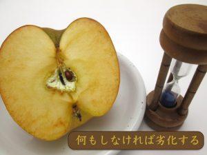 酸化したりんご